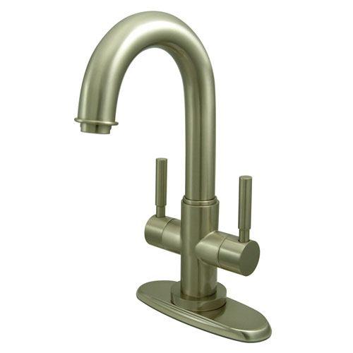 Kingston Concord Satin Nickel 2 Handle Bathroom Faucet w/ Push-up Drain KS8458DL