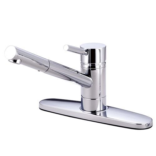 Kingston Brass Concord Chrome Single Handle Kitchen Faucet KS8561DLLS