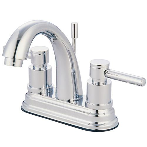 Chrome Two Handle Centerset Bathroom Faucet w/ Brass Pop-Up KS8611DL