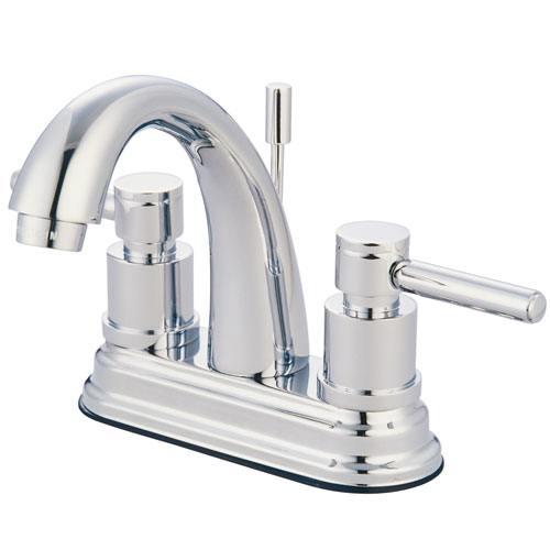 Chrome Two Handle Centerset Bathroom Faucet w/ Brass Pop-Up KS8611DL