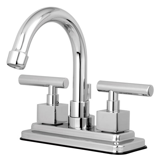 Kingston Brass Claremont Chrome Two handle Centerset Bathroom Faucet KS8661CQL
