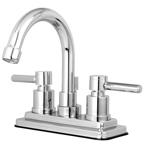 Chrome Two Handle Centerset Bathroom Faucet w/ Brass Pop-Up KS8661DL