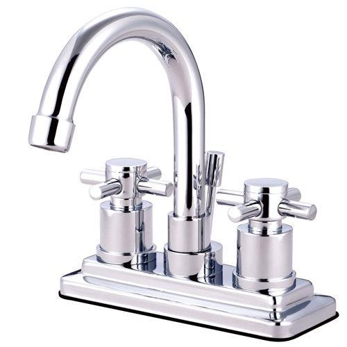 Chrome Two Handle Centerset Bathroom Faucet w/ Brass Pop-Up KS8661DX