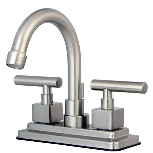 Claremont Satin Nickel Two handle Centerset Bathroom Faucet w Drain KS8668CQL