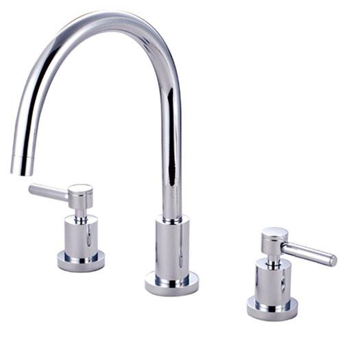 Kingston Brass Concord Chrome Two Handle Widespread Kitchen Faucet KS8721DLLS