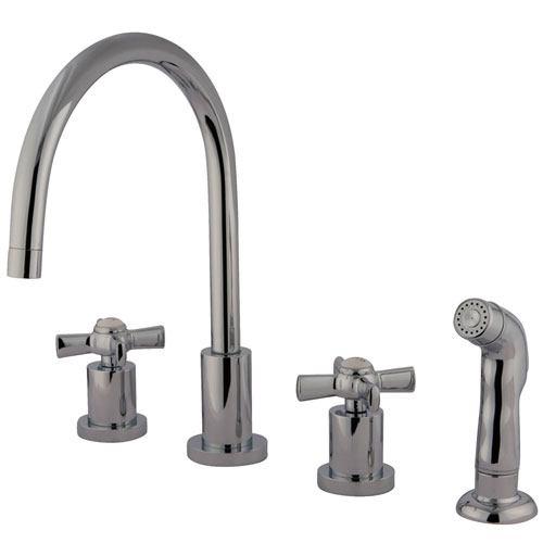 Kingston Brass KS8721ZX Widespread Kitchen Faucet Polished Chrome