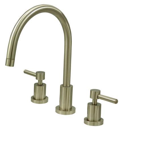 Kingston Concord Satin Nickel 2 Handle Widespread Kitchen Faucet KS8728DLLS