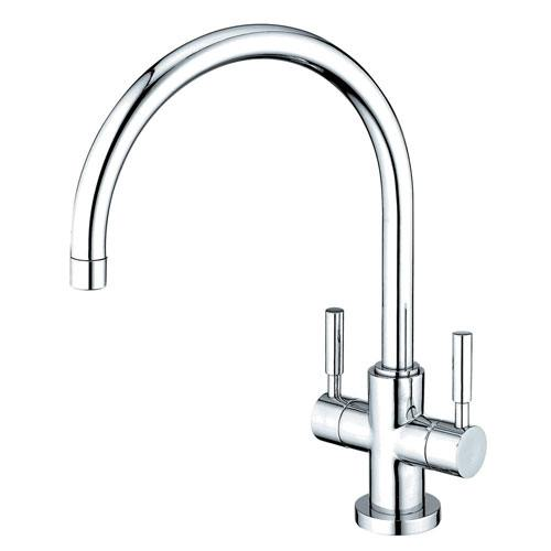 Kingston Brass Concord Chrome Two Handle Kitchen Faucet w/ Plate KS8771DLLS