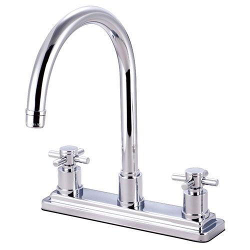 Kingston Brass Concord Chrome Two Handle Kitchen Faucet KS8791DXLS