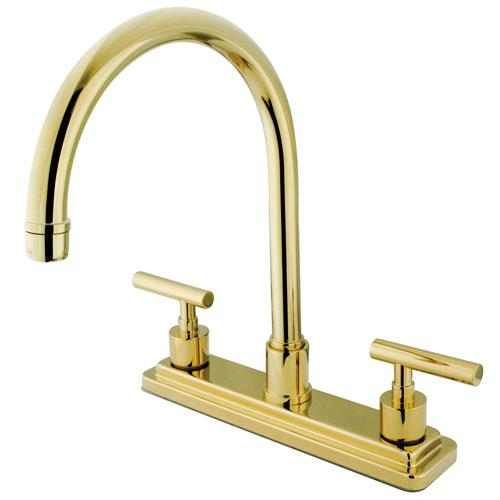 Kingston Polished Brass Manhattan 8