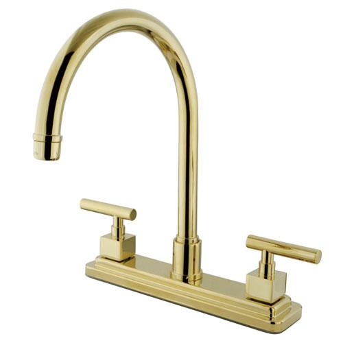Kingston Brass Claremont Polished Brass Two handle 8