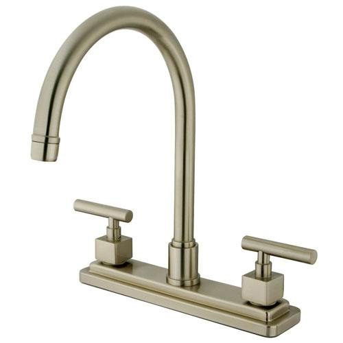 Kingston Brass Claremont Satin Nickel Two handle 8