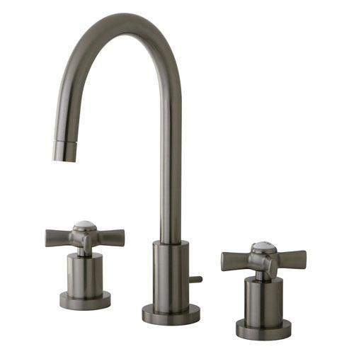 Kingston Brass KS8958ZX widespread Bathroom Faucet Satin Nickel