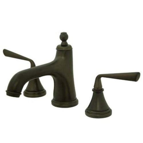 Kingston Silver Sage Oil Rubbed Bronze Widespread Bathroom Faucet KS9965ZL