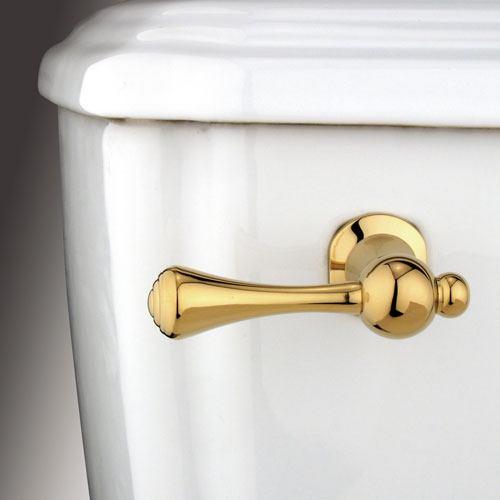 Kingston Brass Polished Brass Buckingham Toilet Tank Flush Handle Lever KTBL2