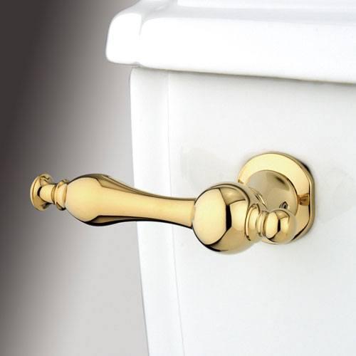 Kingston Brass Polished Brass Naples Toilet Tank Flush Handle Lever KTNL2