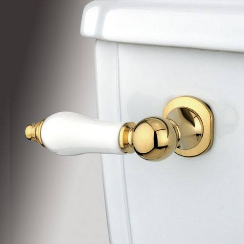 Kingston Brass Polished Brass Victorian Toilet Tank Flush Handle Lever KTPL2