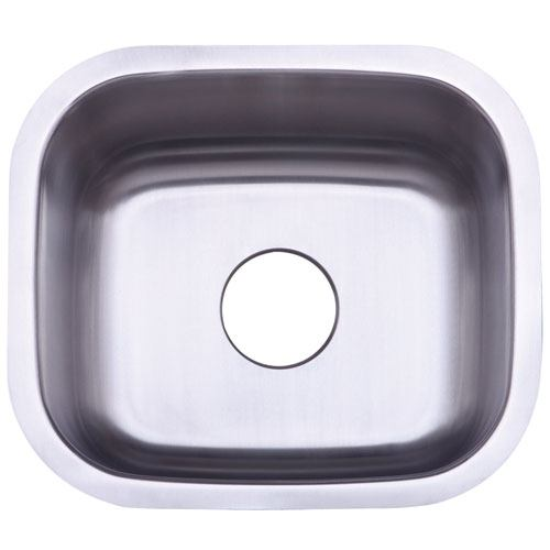 Kingston Brushed Nickel Gourmetier Single Bowl Undermount Kitchen Sink KU14167BN