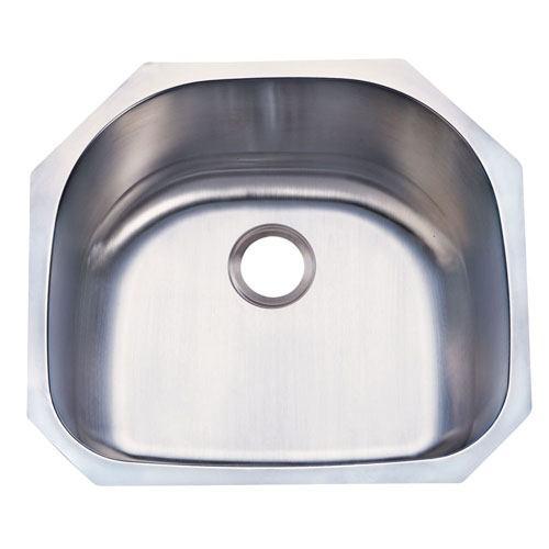 Kingston Brushed Nickel Centurion Single Bowl Undermount Kitchen Sink KUD24219BN
