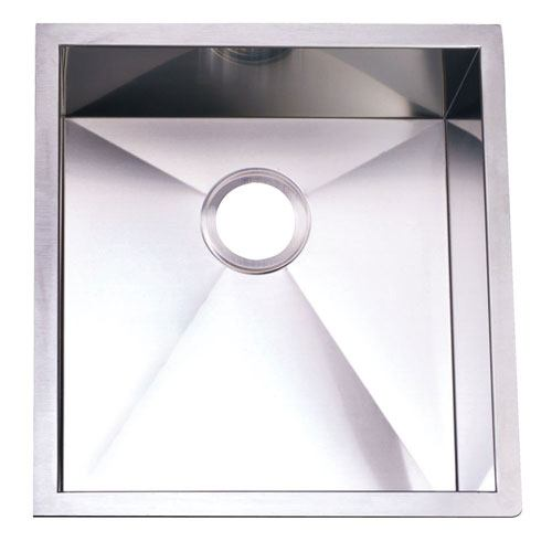 Brushed Nickel Gourmetier Single Bowl Undermount Kitchen Sink KUS192010BN