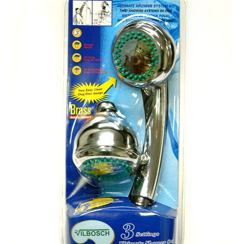 Kingston Chrome Shower Kit with Adjustable Hand Shower Head Faucet KX-0132D