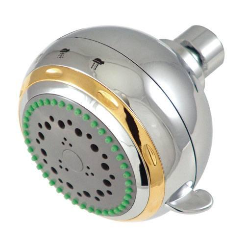 Kingston Brass Chrome / Polished Brass Adjustable Fixed Shower Head KX1654