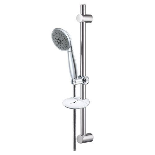Kingston Chrome Shower Combo w Sliding Bar & Hand Shower Head Faucet KX2522SBB