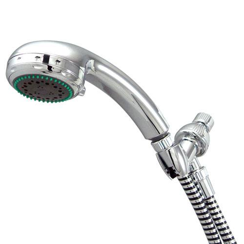 Kingston Brass Chrome 6 Setting Hand Shower Head Faucet with Plastic Hose KX2652