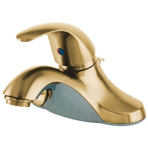 Kingston Polished Brass Single Handle Centerset Bathroom Faucet KB6542LL