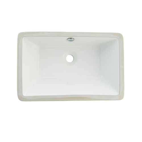 Castillo White China Undermount Bathroom Sink with Overflow Hole LB21137