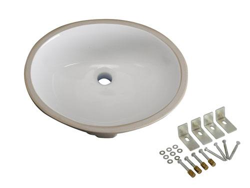 Kingston White Bath Cove White China Oval Undermount Bathroom Basin LBO17136