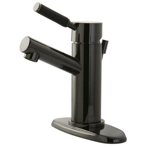 Kingston Water Onyx Black Nickel finish Single Handle Bathroom Faucet NS8420DKL