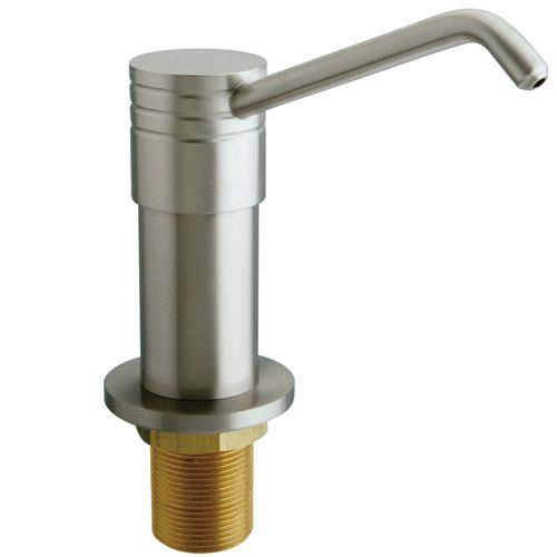 Kingston Brass Satin Nickel Milano deck mount Easy Fill Soap Dispenser SD2608