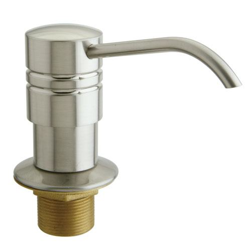 Kingston Brass Satin Nickel Milano deck mount Easy Fill Soap Dispenser SD2618