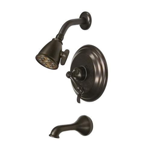Kingston Brass Oil Rubbed Bronze Tub and Shower Combination Faucet VB36350AL