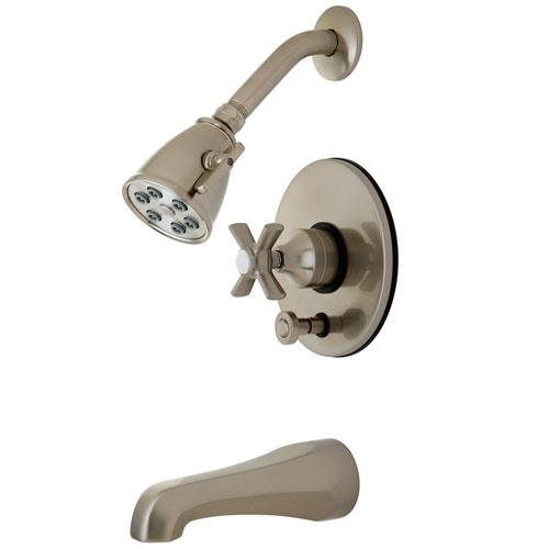 Kingston Brass VB86980ZX Tub and Shower Combination Faucet Satin Nickel