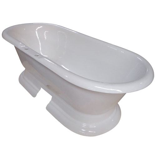 Cast Iron Or Acrylic Clawfoot Bathtub