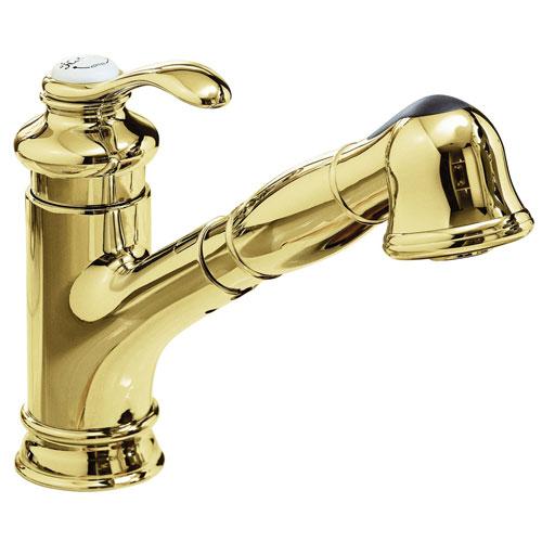 Kohler Fairfax Faucet Kohler Fairfax Kitchen Faucet Parts: Kohler K-12177-PB Fairfax Polished Brass Single Handle