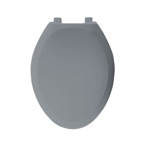 Bemis STA-TITE Slow Close Elongated Closed Front Toilet Seat in Country Grey