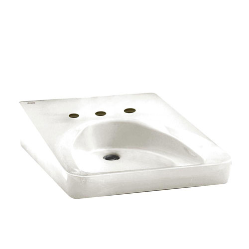 American Standard Wheelchair Users Wall-Mounted Bathroom Sink in White 100172