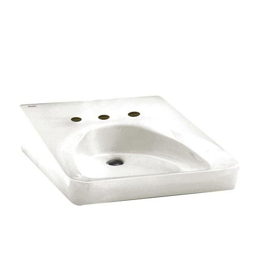 American Standard Wheelchair Users Wall-Mounted Bathroom Sink in White 100172
