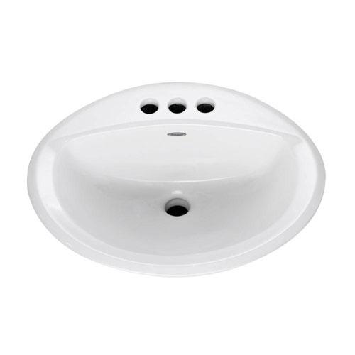 American Standard Aqualyn Self-Rimming Drop-in Bathroom Sink in White 100297