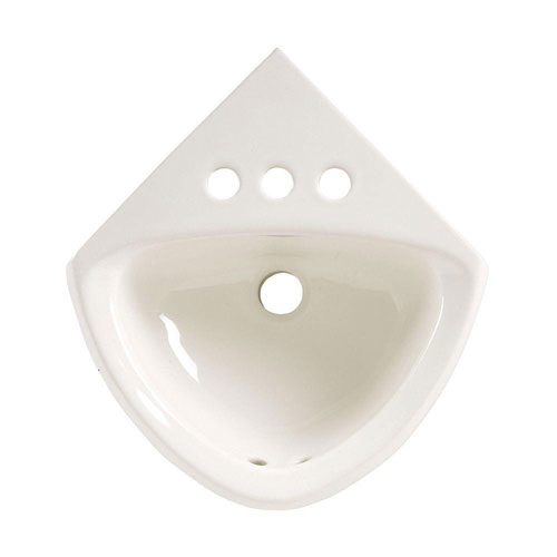 American Standard Corner Minette Wall-Mount Bathroom Sink in White 104927