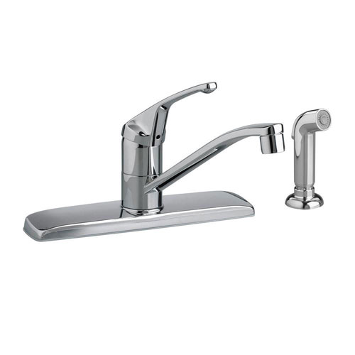 American Standard Colony Single-Handle Side Sprayer Kitchen Faucet in Polished Chrome 165877