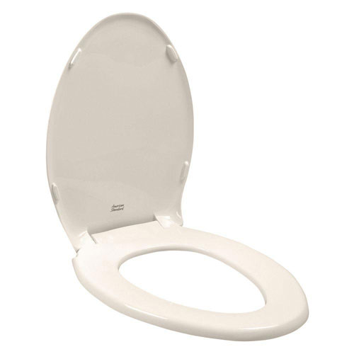American Standard Rise and Shine Elongated Closed Front Toilet Seat in Linen 17216