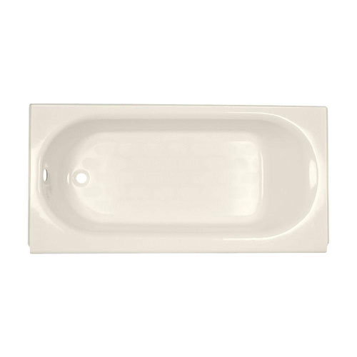 American Standard Princeton Above Floor Rough 5 foot by 30 Inch Left Hand Drain Bathtub in Linen 185009