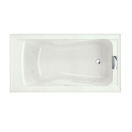 American Standard Evolution 5 foot x 32 inch Whirlpool Tub with EverClean in White 218869