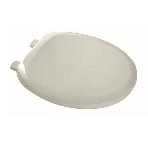 American Standard EverClean Round Closed Front Toilet Seat in Linen 235829