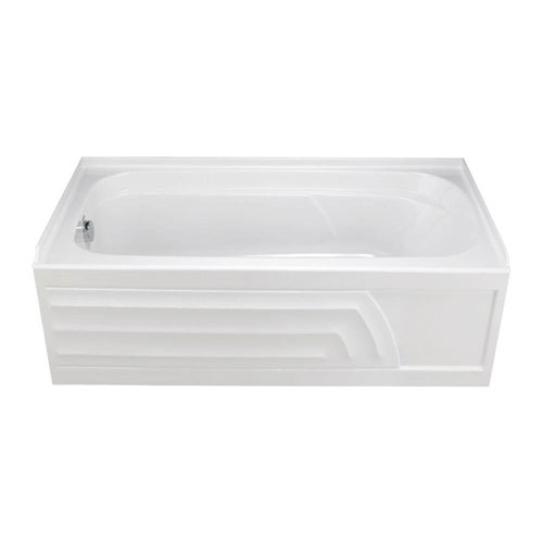 American Standard 2740.218.020 Colony 5-foot by 30-inch Left-Hand Whirlpool with Integral Apron and Hydro Massage System-I, White 296937