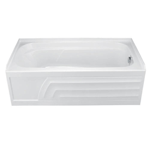 American Standard 2740.102.020 Colony Bathtub with Integral Apron, Dual Molded-In Armrests and Right-Hand Outlet, White 296941
